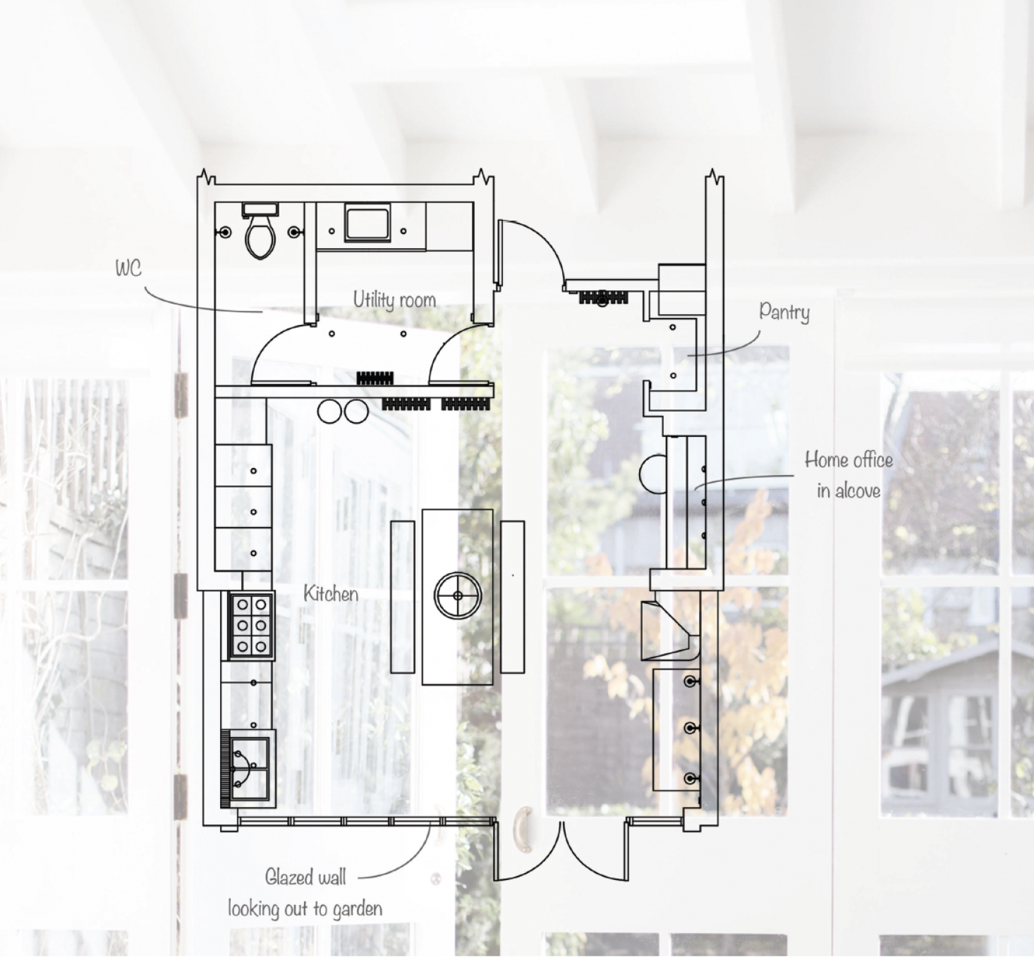 Kitchen Utility Room Layout: New-old Design In An Eat-in Kitchen Addition By Mark Lewis