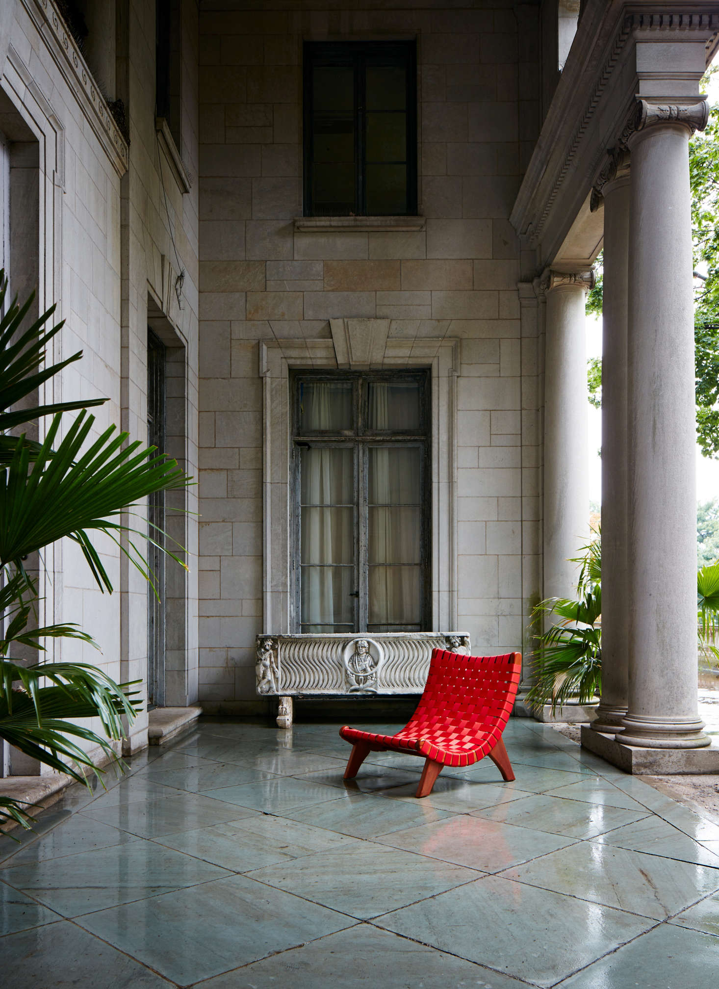 The San Miguelito Lounge Chair Is Suitable For Outdoors As Shown Here In Woven