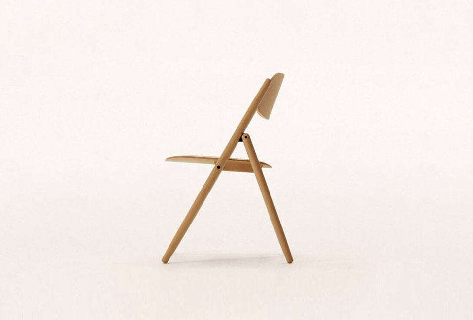 designed by naoto fukasawa the folding chair is cad 940 usd from