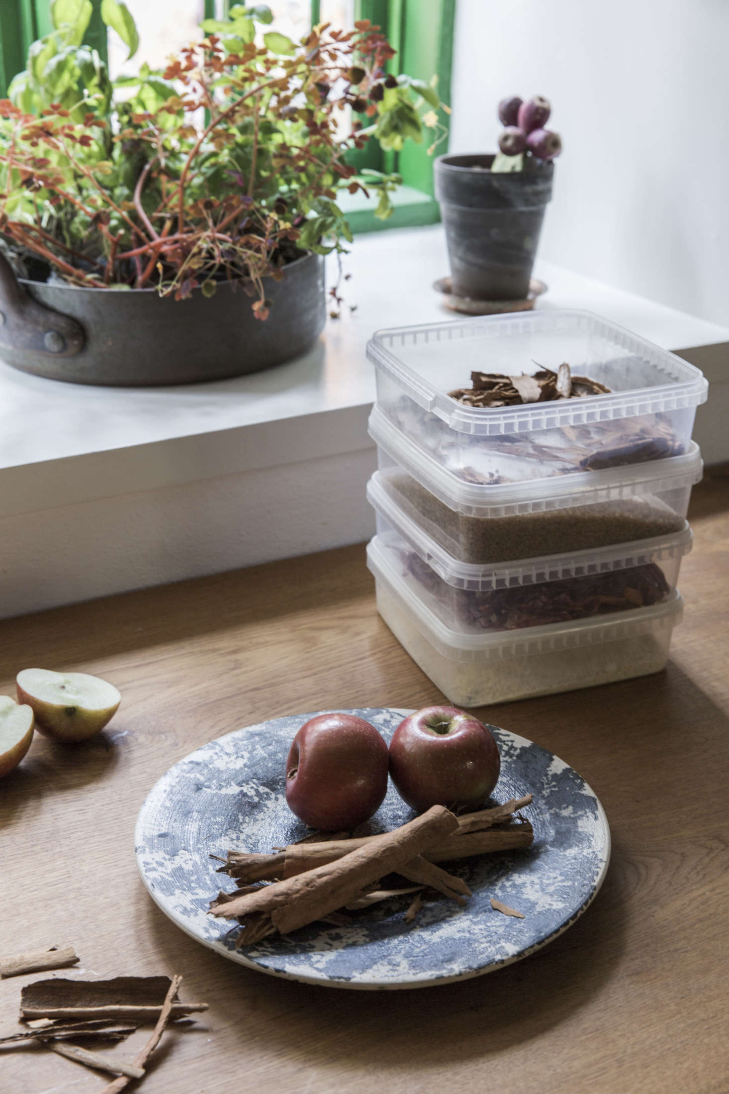 Go-to storage containers, at Noma and at home. Photograph courtesy ofDinesen.