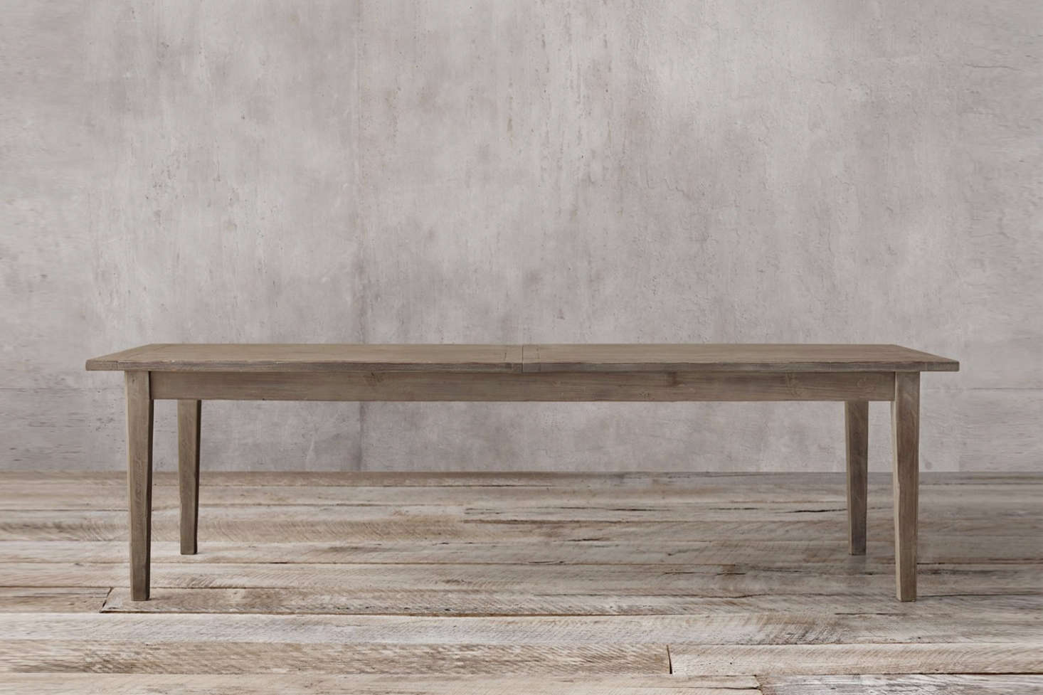 The Boulangerie Table from Restoration Hardware is available in several finishes and sizes; shown is the 96-inch-longBoulangerie Table in distressed reclaimed pine; $1,255.