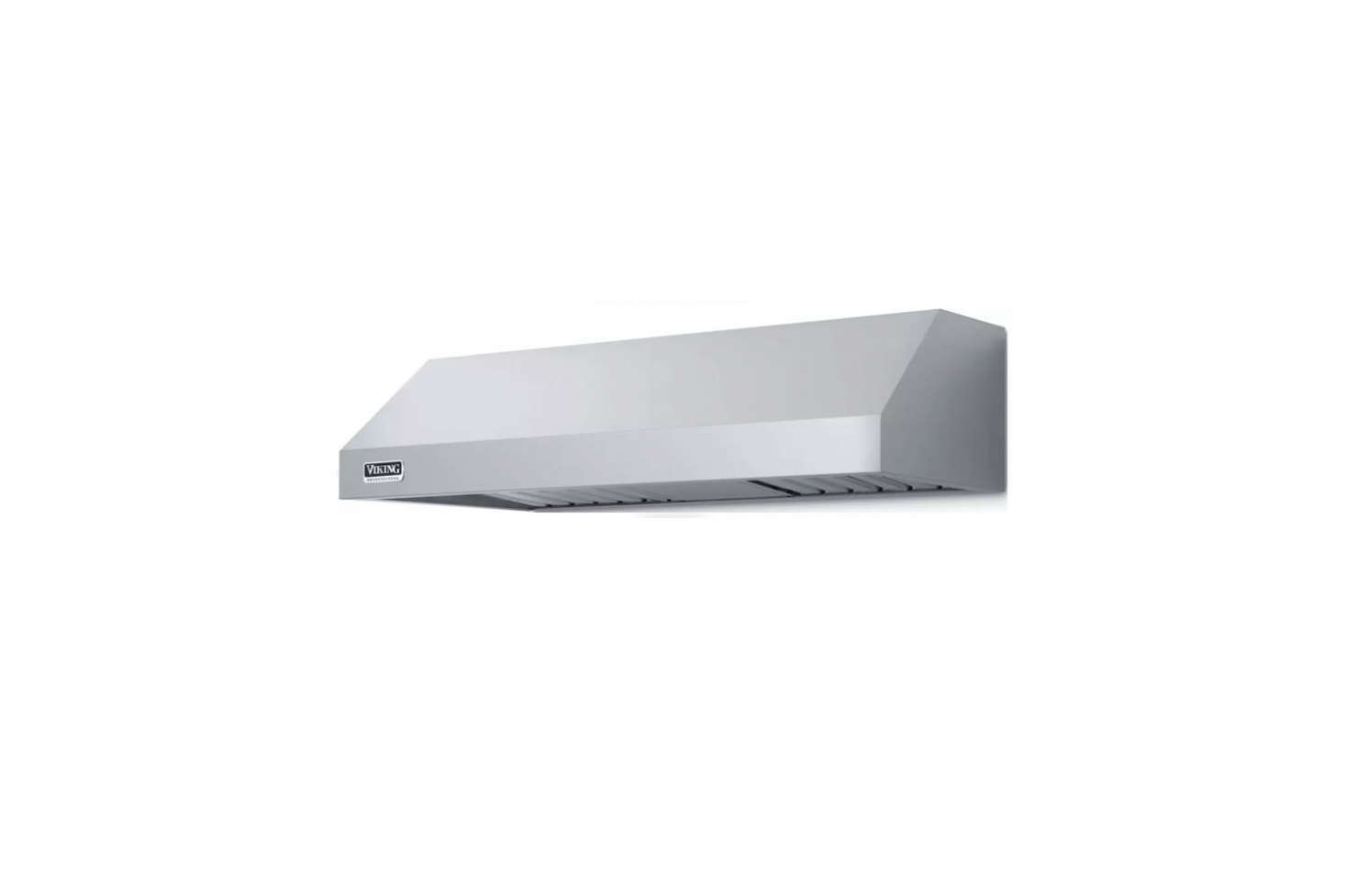 TheViking Professional 5 Series 36-Inch Under Cabinet Range Hood is similar to the hood within the custom housing in the kitchen. It's $1,099 for the 36-inch model in stainless at AJ Madison.