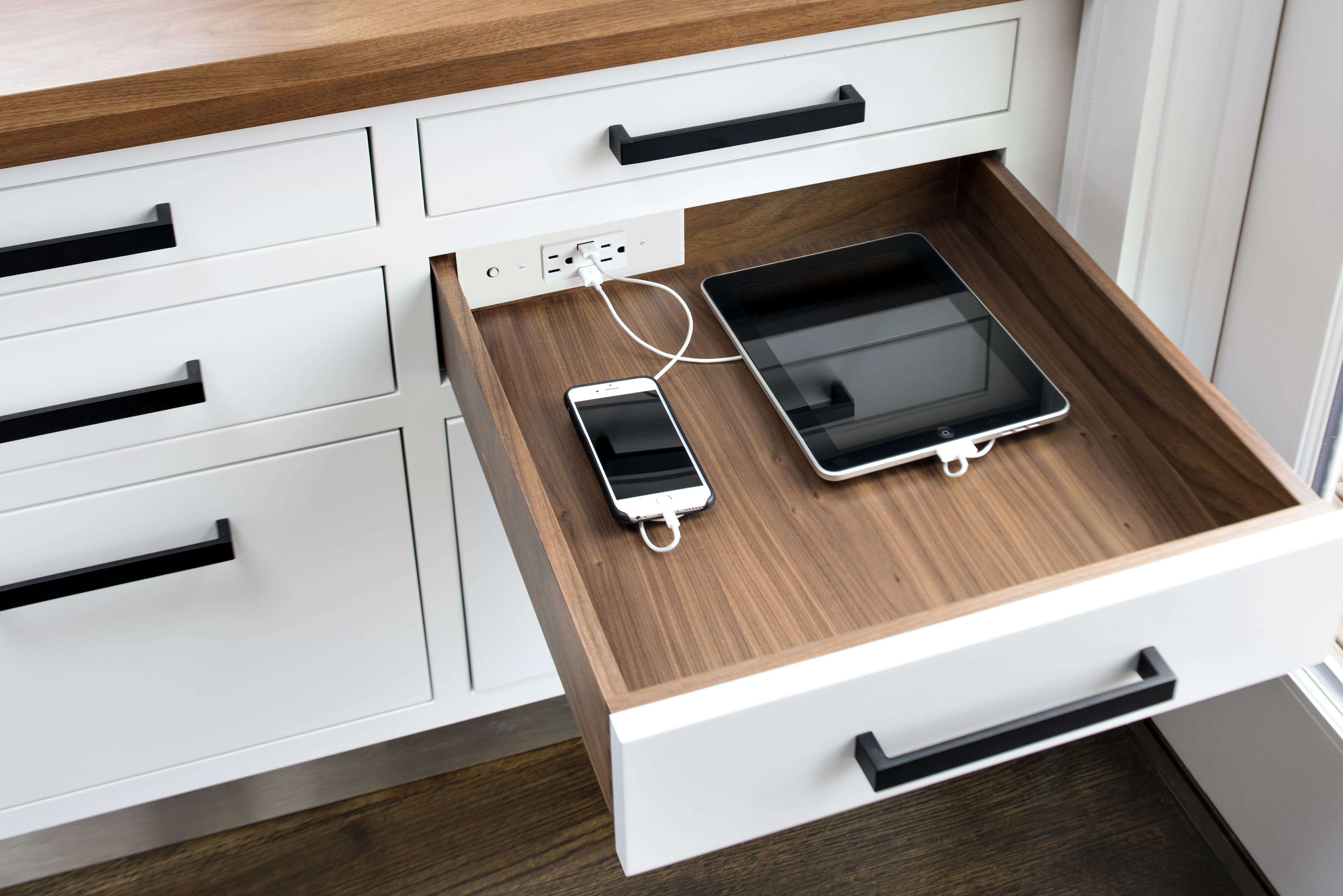 Clutter Free Organized Spaces With In Drawer Electrical