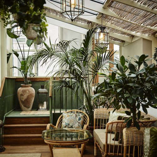 The vintage-style rooftop conservatory, for getting some air.