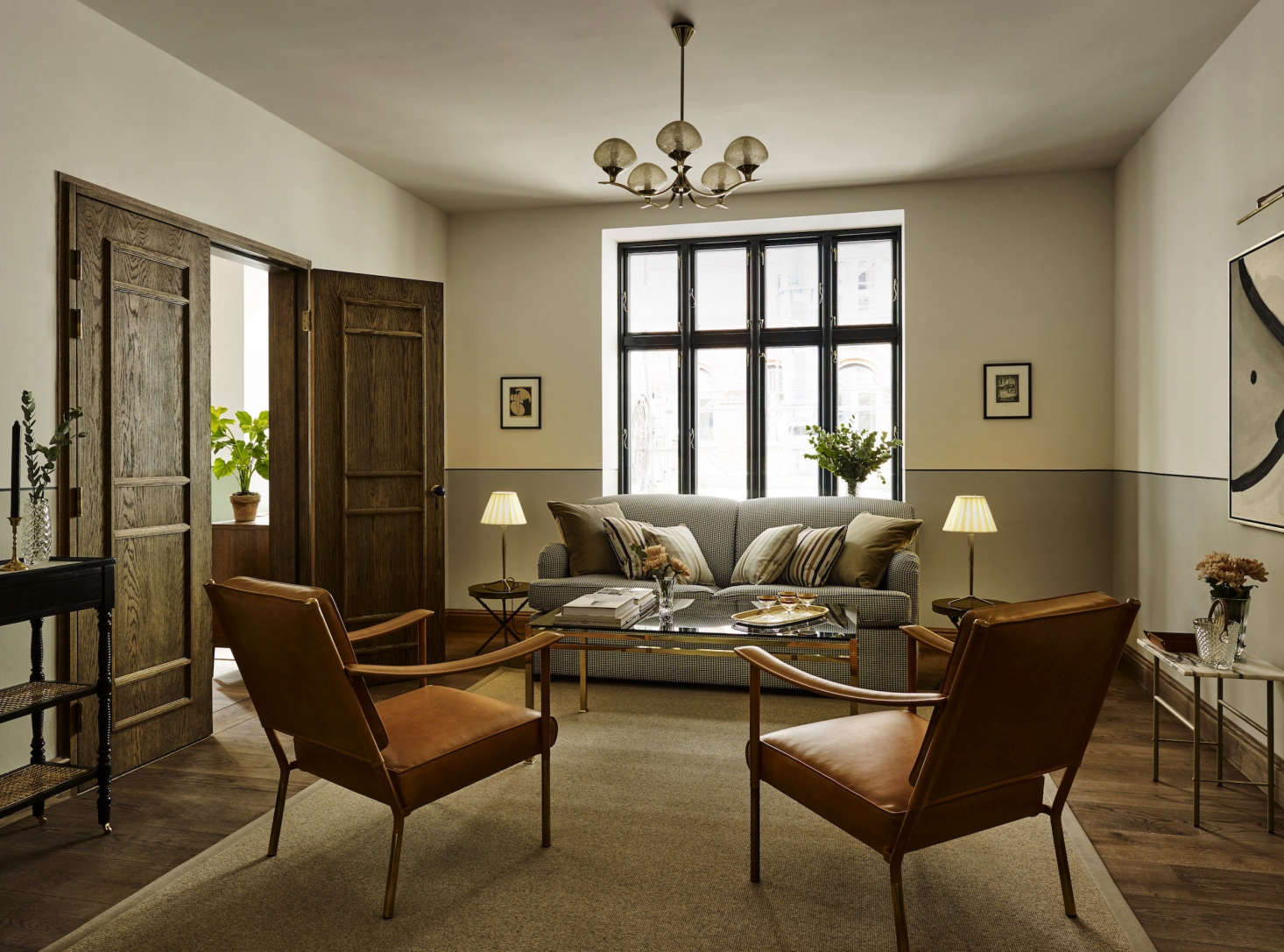 An adjacent sitting room.