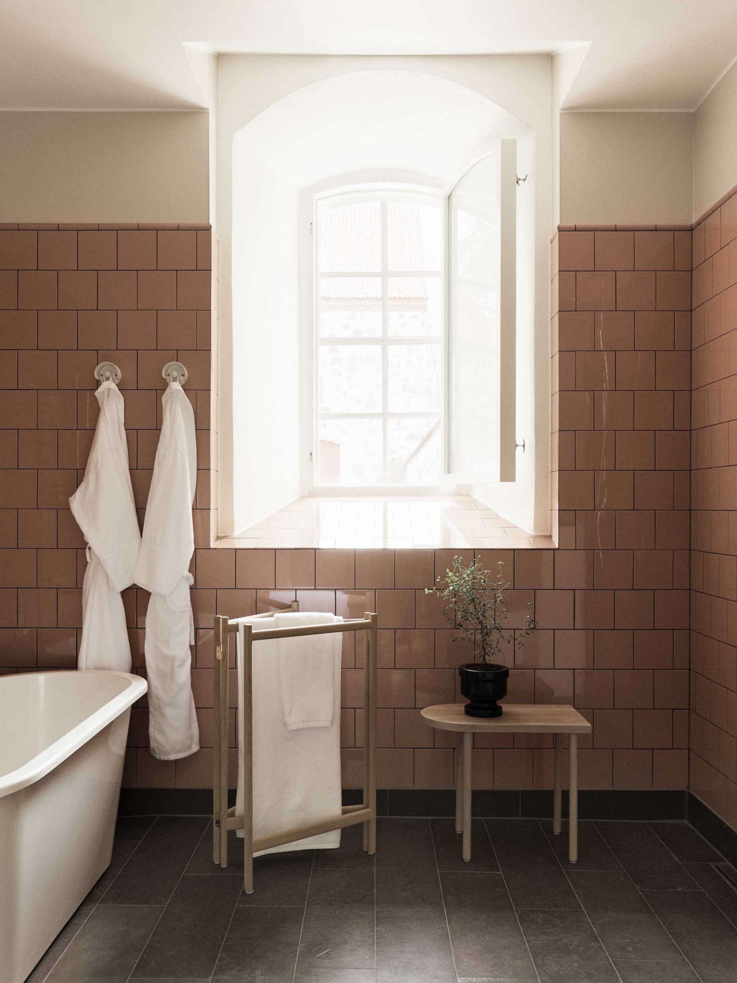 Retro-inspired bathroom tile (such as the Health tile used in Katie Lockhart's Auckland project) and just plain retro tile (like the vintage pink tile at Hotel Wanås in Skåne, Sweden, shown) is an emerging trend. Start scouring your local architectural salvage now.