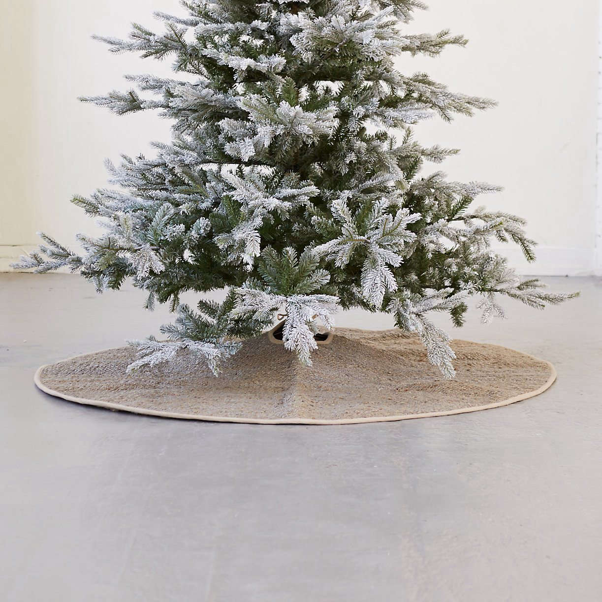 The Woven Jute Tree Skirt is $128 from Terrain.
