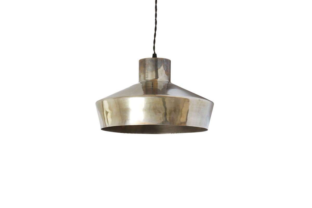 brass lighting fixtures. We Like The Sculptural Shape Of Handmade Simple Pendant Light, Shown Here In Patinated Brass Lighting Fixtures U
