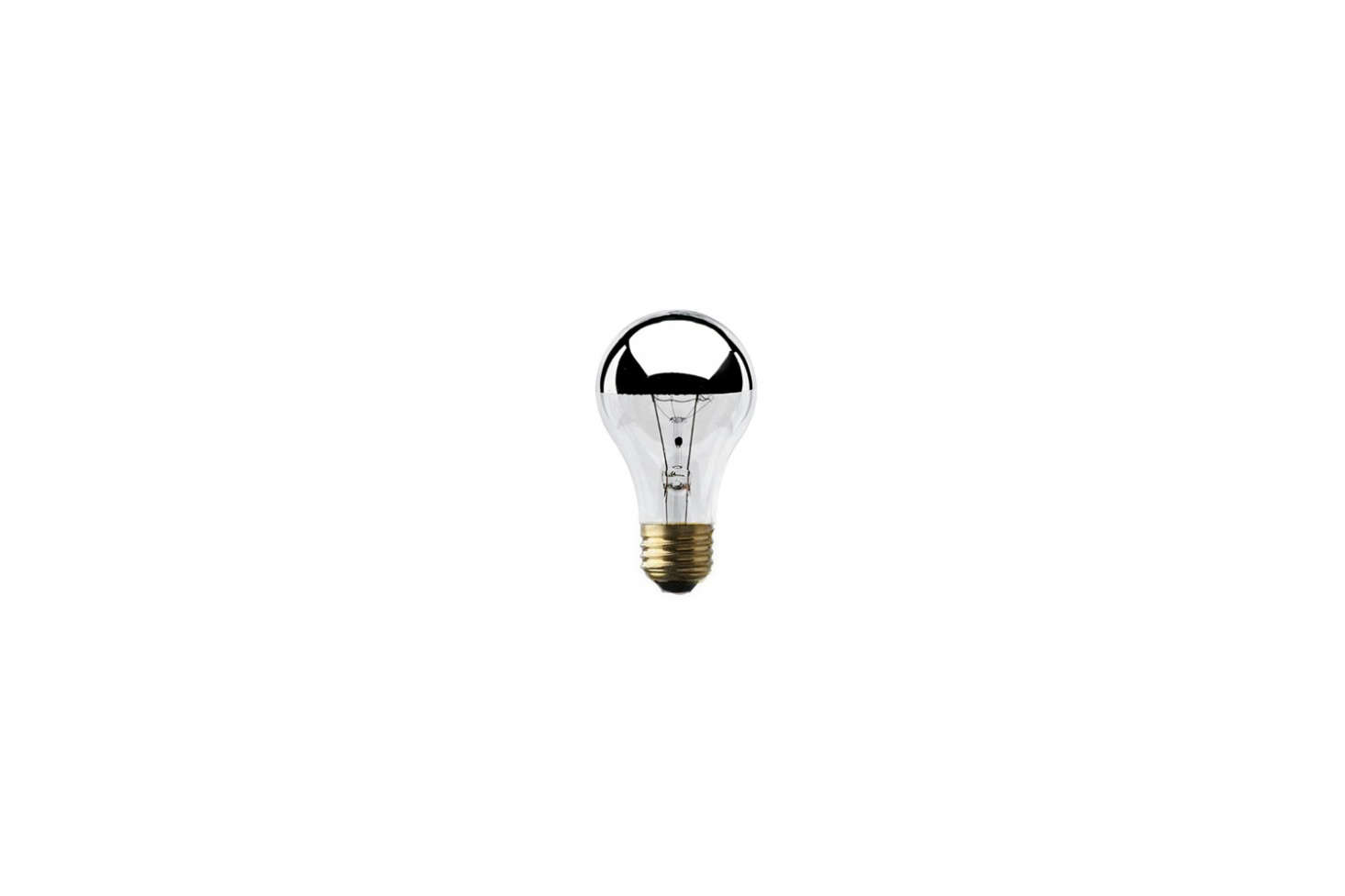 Find a pack of two, four, six, or 12 Bulbrite Half Chrome 60W Bulbs; $16.62 for a pack of four on Amazon.