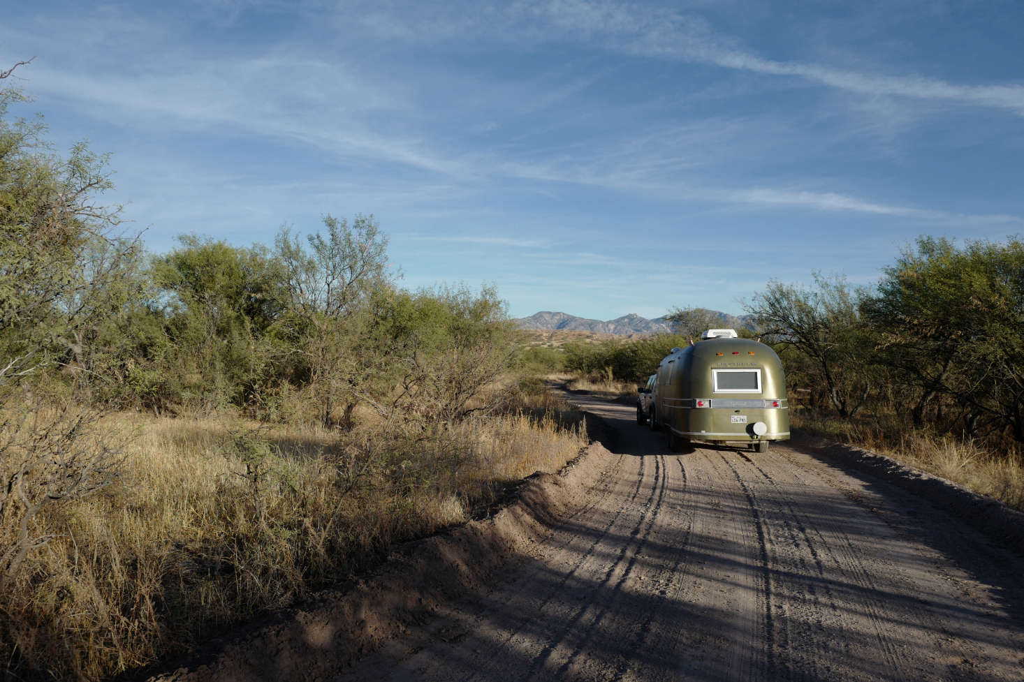 The Airstream is used for weekend getaways and as extra quarters at the ranch.