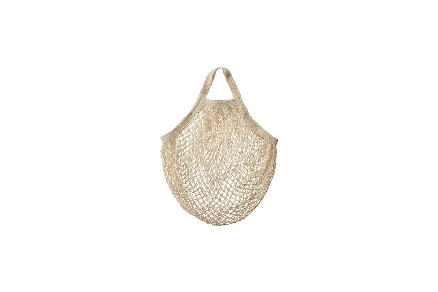 Useful for grocery shopping, storing onions and garlic (consider hanging on a kitchen peg rail), and keeping produce in the refrigerator, the Eco-Bags Products String Bag Tote in natural, organic cotton is $9.54 on Amazon.