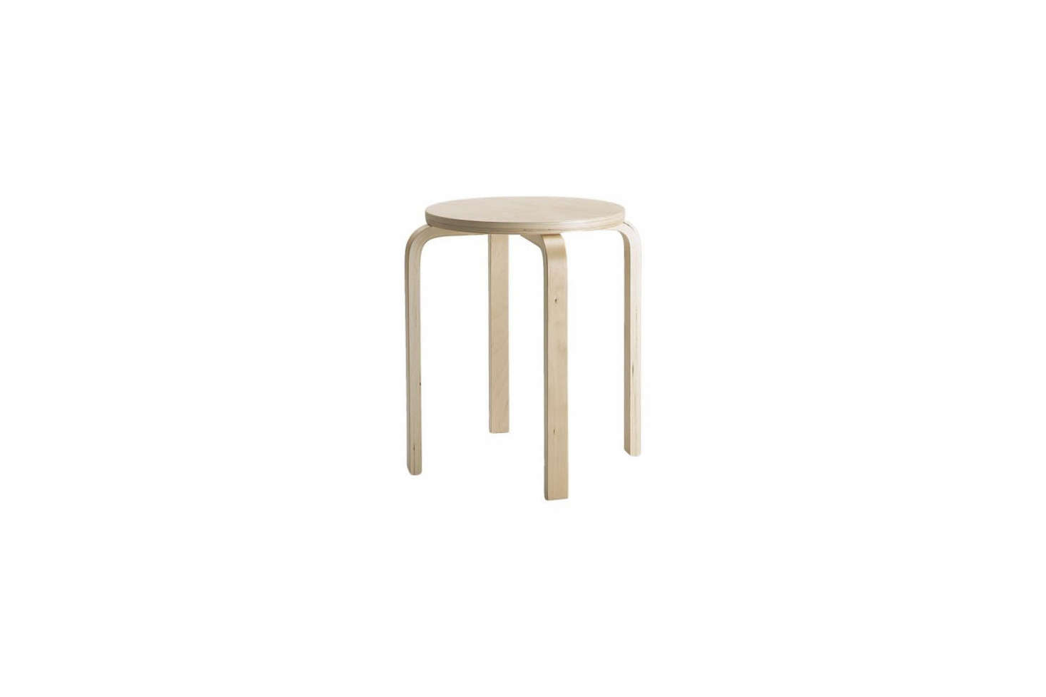 I've had a collection of Ikea Frosta stools for more than a decade, and they've held up well. For a couple of years Ikea dropped them from the lineup but fortunately they're back; $14.99 each.