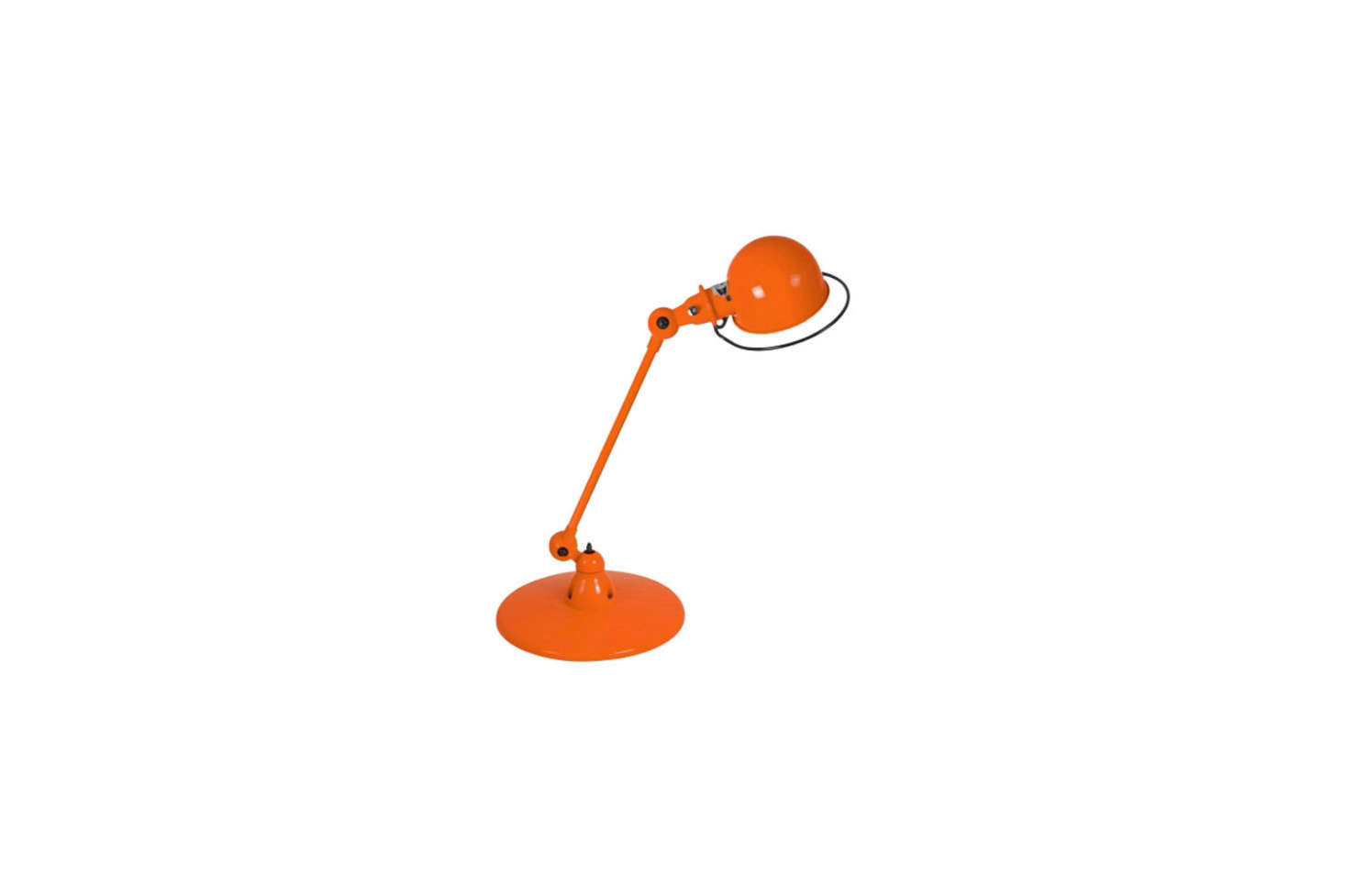 The Jielde Loft Desk Lamp D6000 in orange (shown) is a close match to the vintage Anglepoise orange light in the kitchen. You can source it from Horne for $src=
