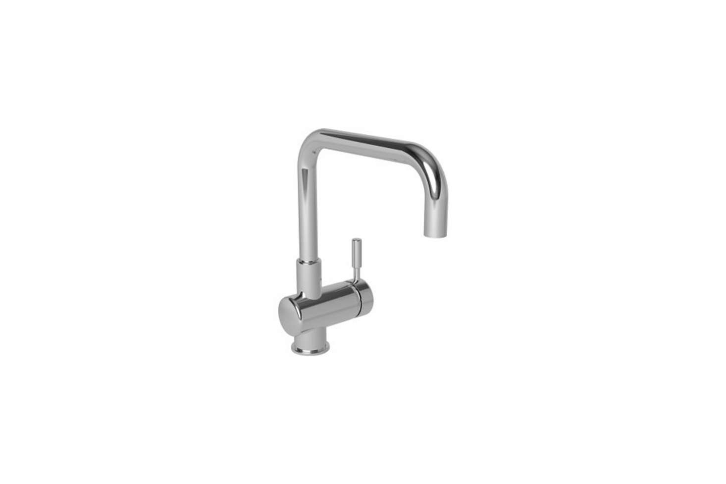 The Newport Brass East Square Single Hole Kitchen Faucet, shown in polished chrome, is $501.20 at eFaucets.