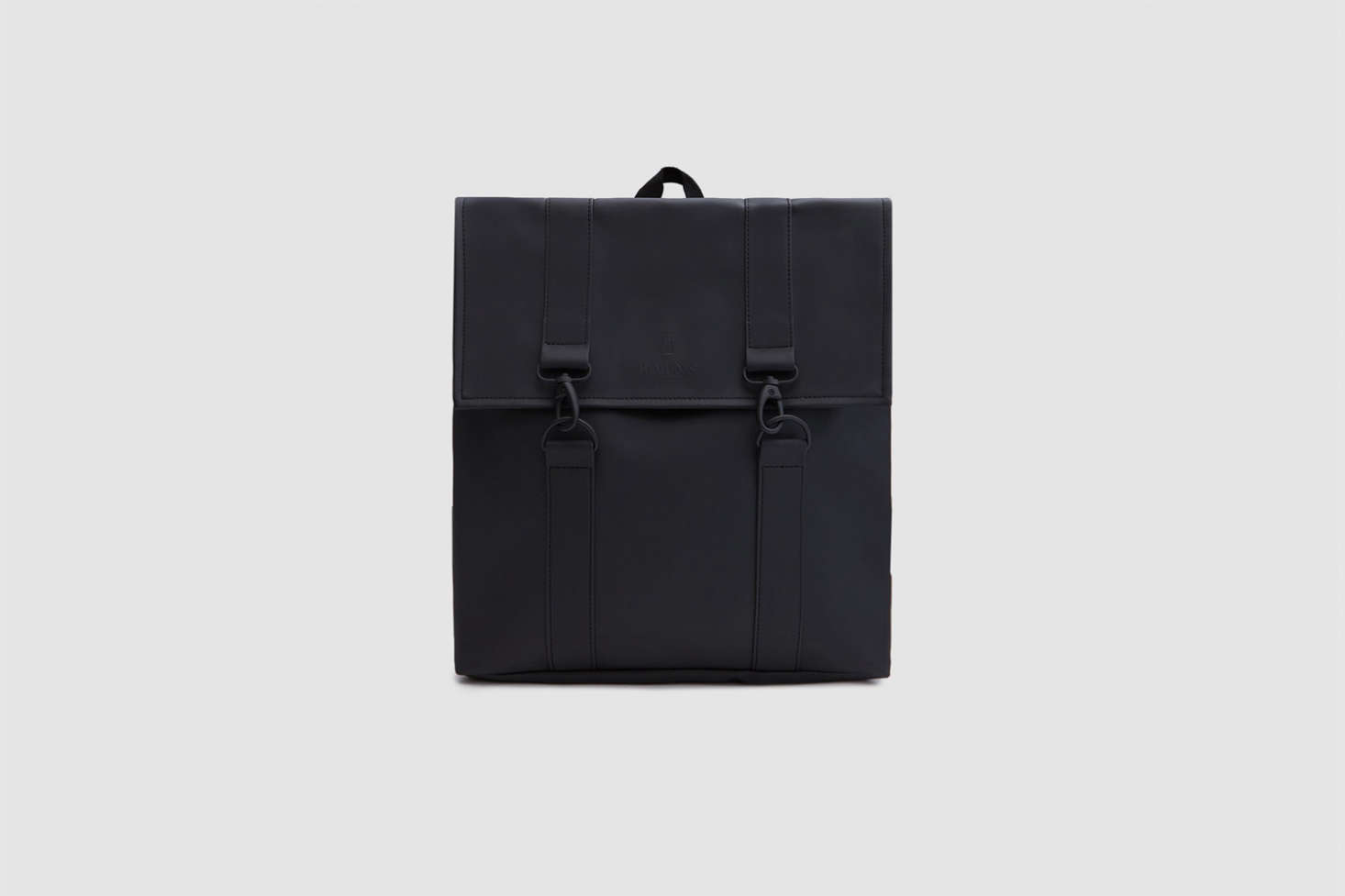 The Rains MSN Bagin black has a matte finish; $95 at Need Supply.