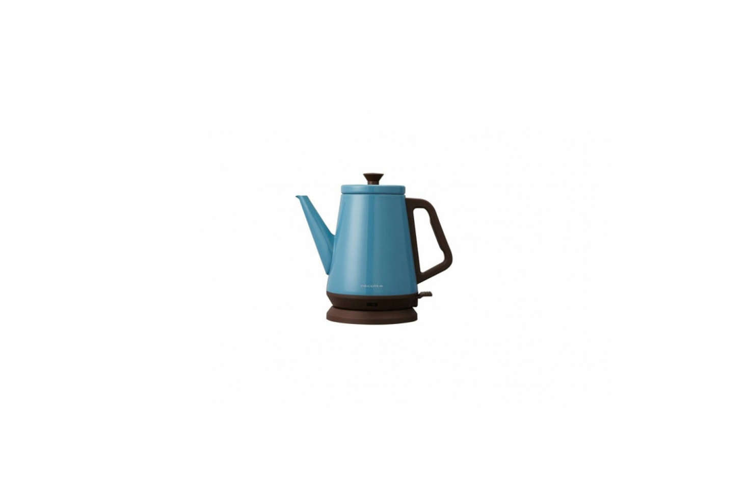 The Récolte Classic Libre Electric Kettle in blue is something Marcia and Durrell picked up on a trip to Hong Kong. You can find it on Amazon for $84.0