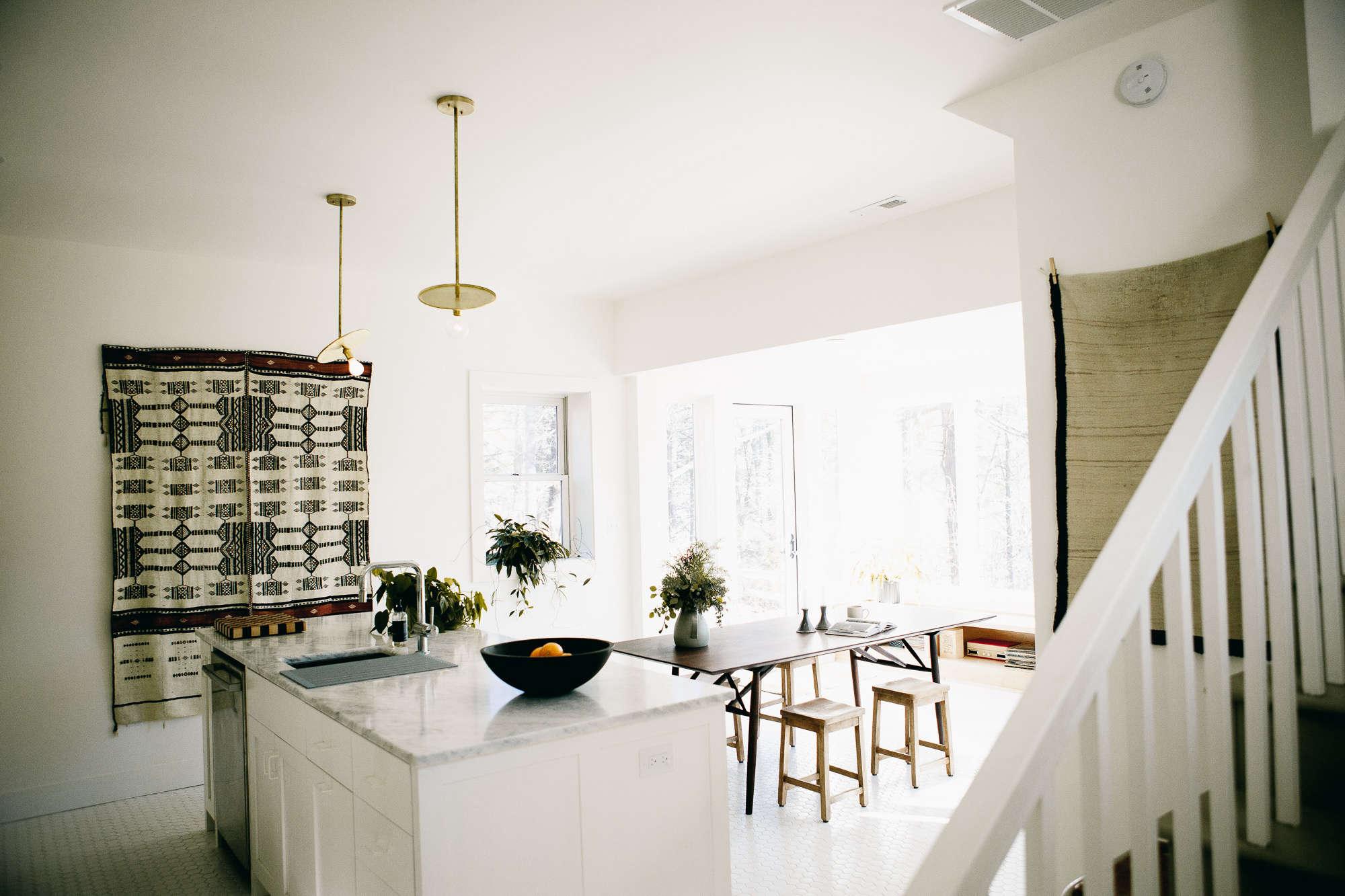 Kitchen of the Week: A Modern Kitchen in a North Carolina Log ...
