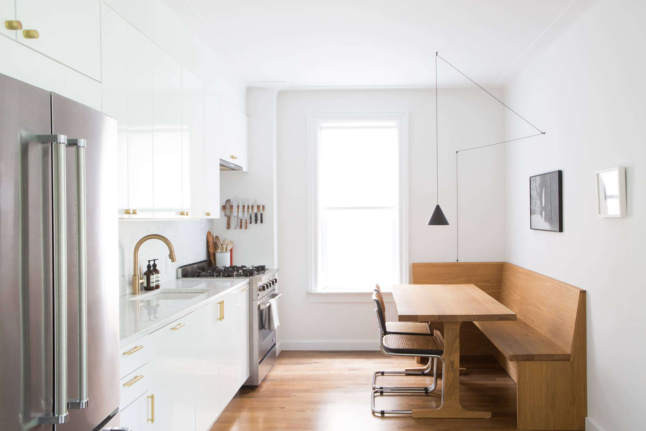 Kitchen of the Week: An Ikea Kitchen with an Elegant Upper Cabinet ...