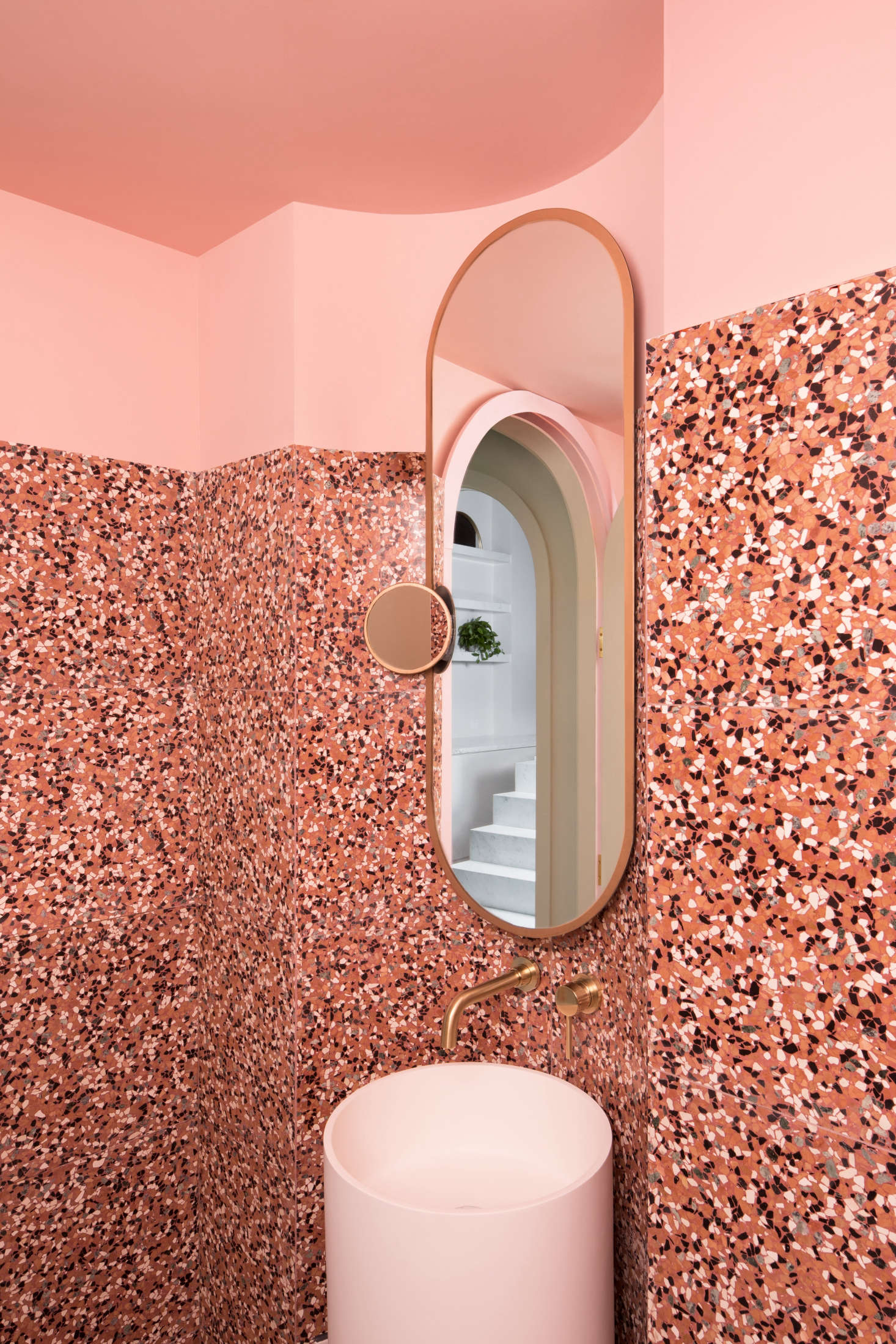 Cinematic pink: The bathroom at a Chengdu, China, cafe inspired by Wes Anderson&#8