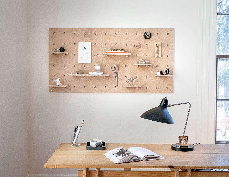 DIY: A Stylish, Modern Wooden Pegboard - Remodelista