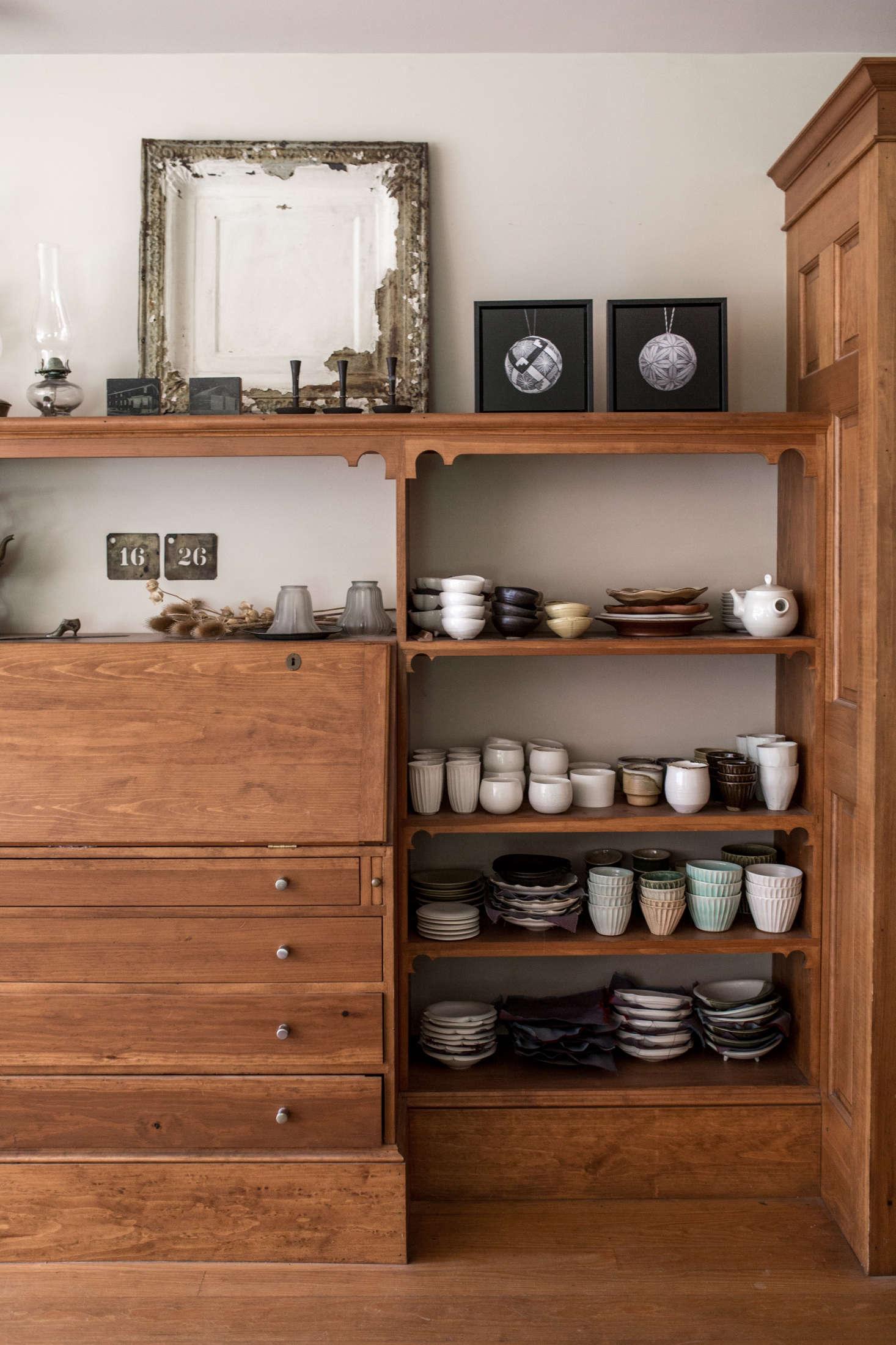 Shelves hold Nakazato&#8