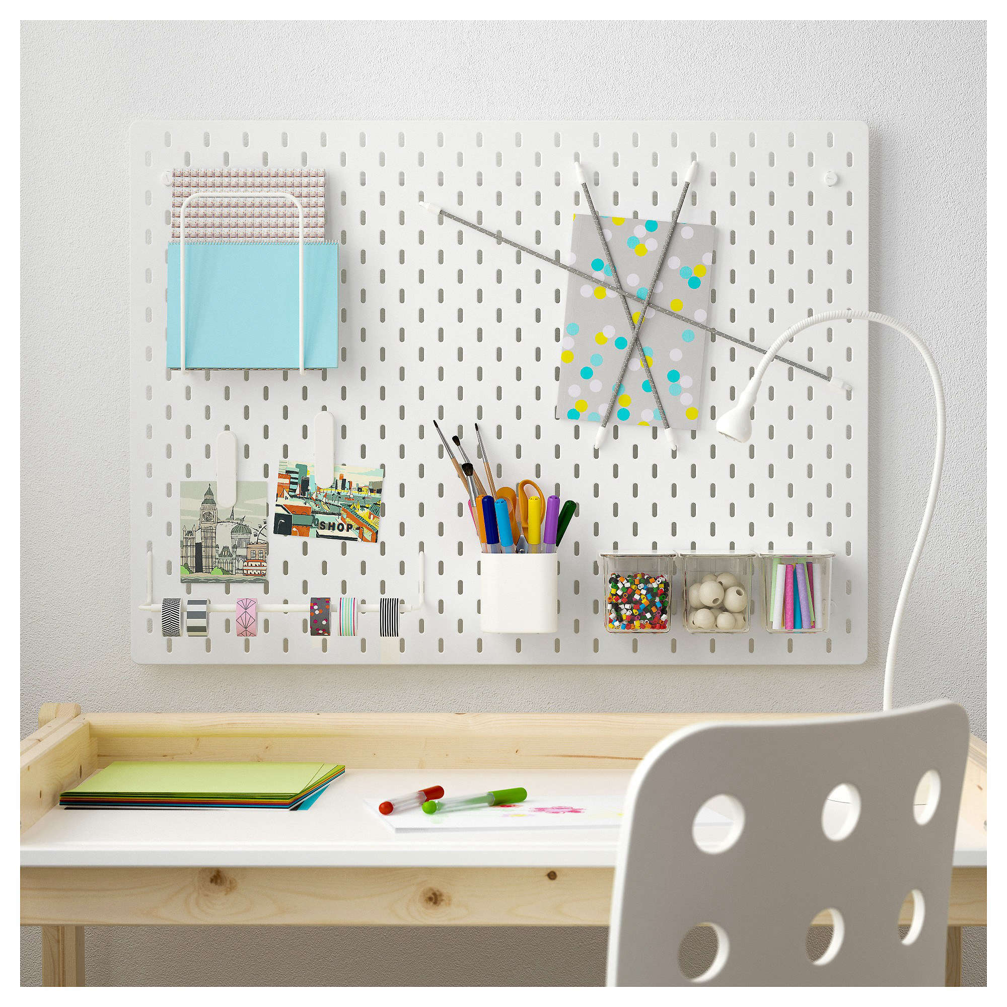 Sk 229 Dis Pegboard Office Combination White