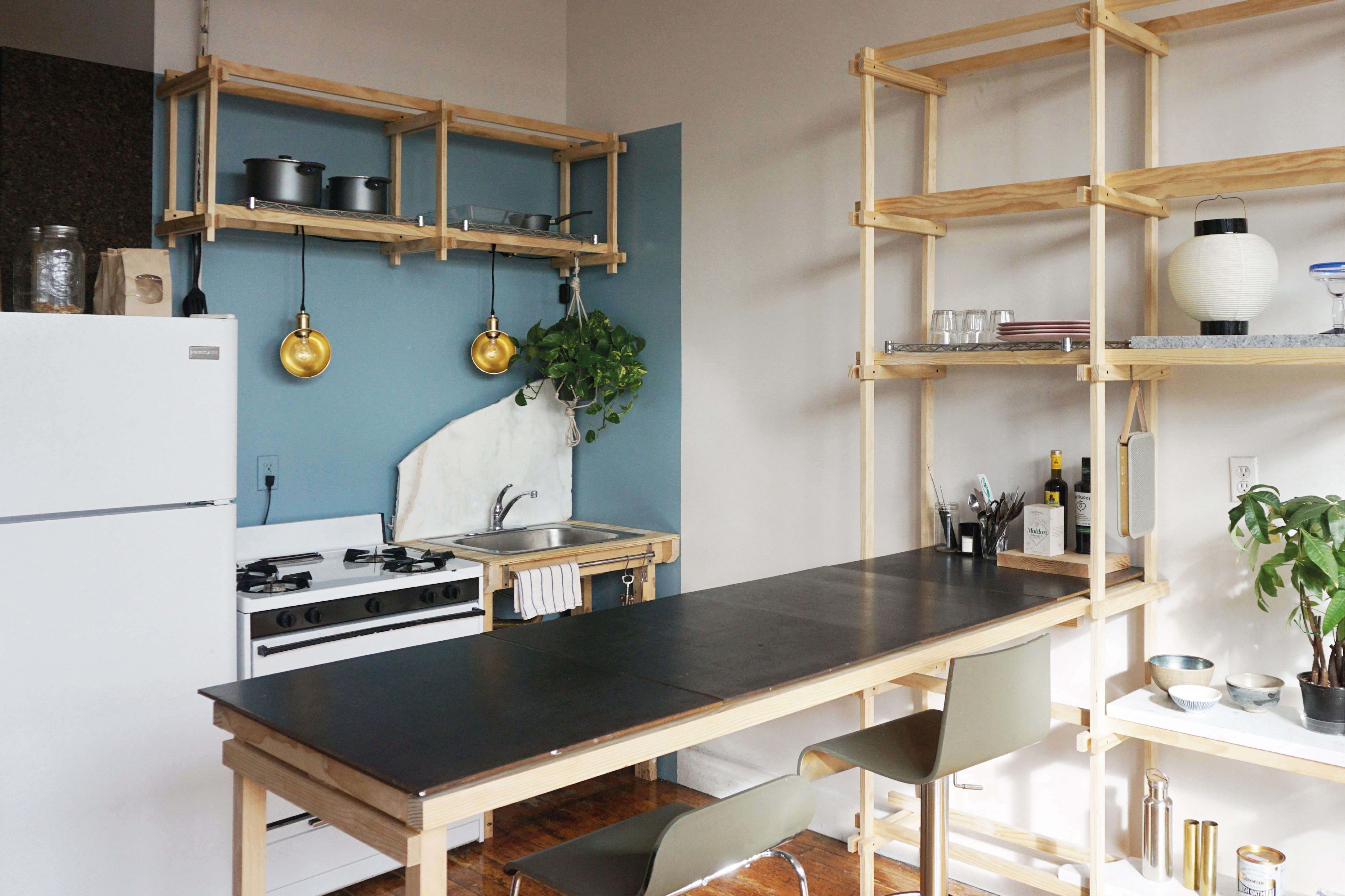 A Two-Week, $1,000, 500-Square-Foot Rental Overhaul by a Design Student in Bushwick, Brooklyn - Remodelista