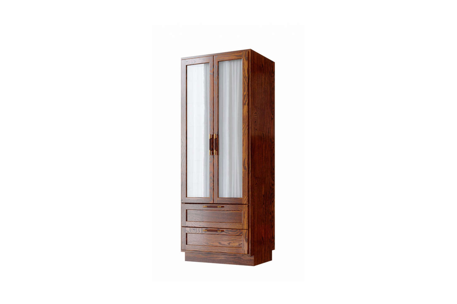 TheLind & Almond A Wardrobe for Sanders is made of European oak or chestnut. In the hotel, the designers lined the wardrobe with Kvadrat fabric.