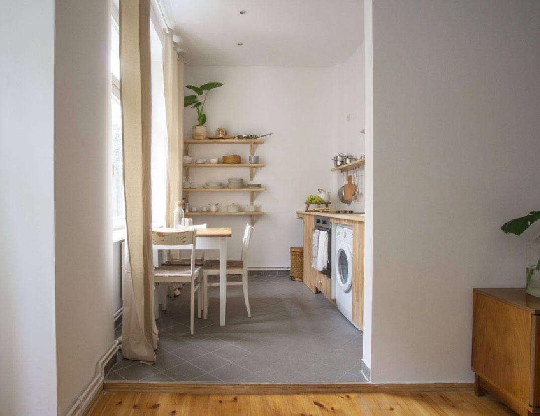 a modest mostly vintage rental in berlin by quiet studios remodelista. Black Bedroom Furniture Sets. Home Design Ideas