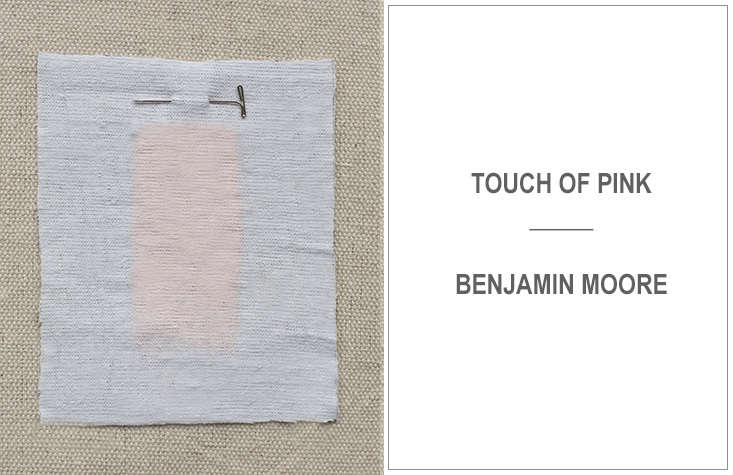 Also recommended by Kriste Michelini: soft Touch of Pink by Benjamin Moore.