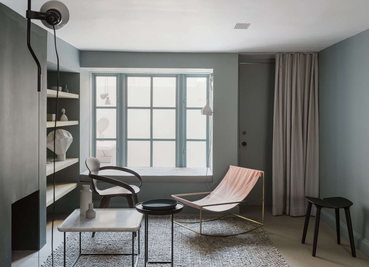 An unusually good-looking basement, as seen inA Luminous, Euro-Style Row House in Washington, DC, Courtesy of Studio Oink. Photograph byMatthew Williamsfor Remodelista; styling byAlexa Hotz.
