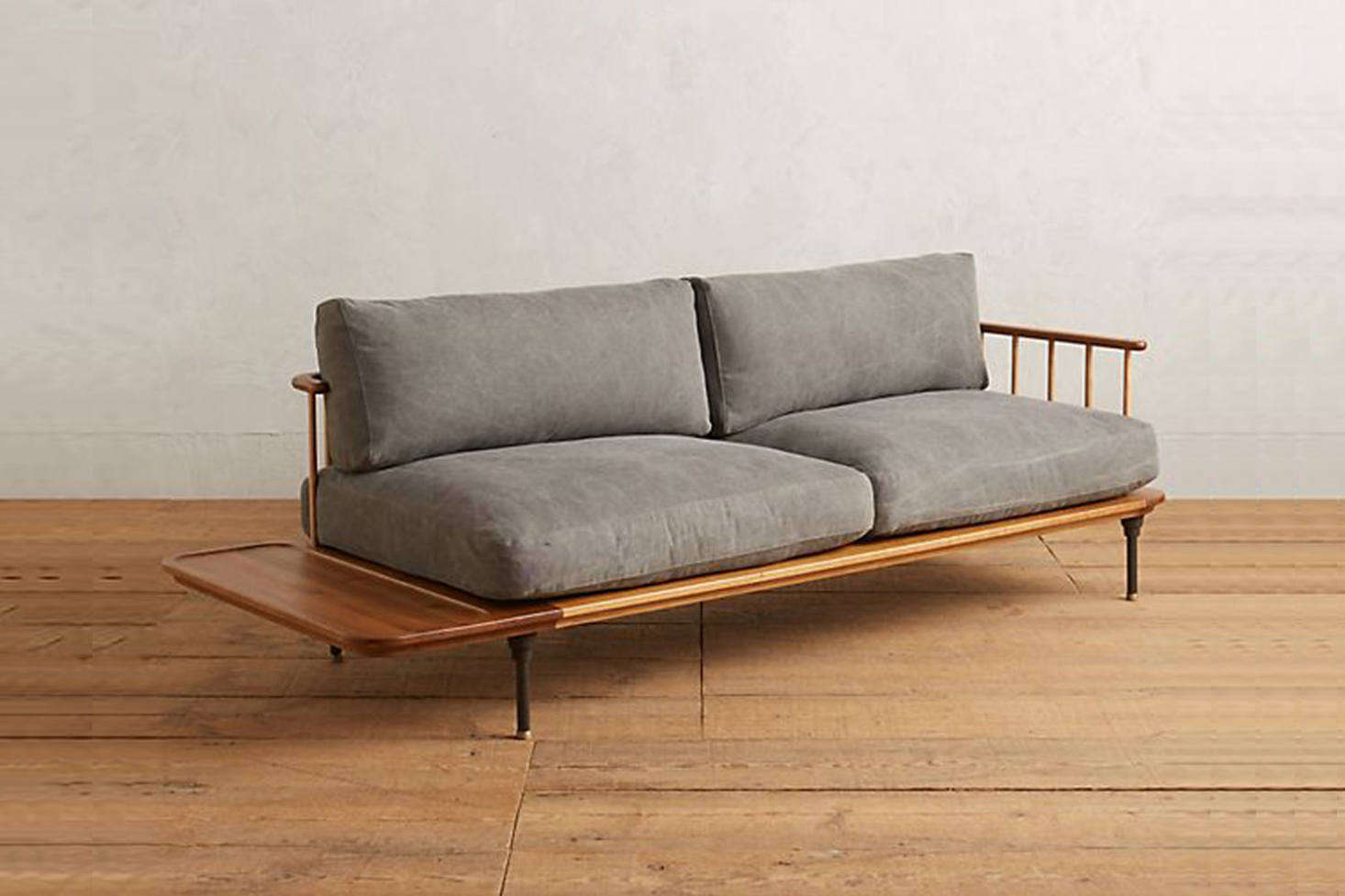 The Kalmar Sofa Is Made Of Smoked Oak, Ash, And Steel And Has Waxed