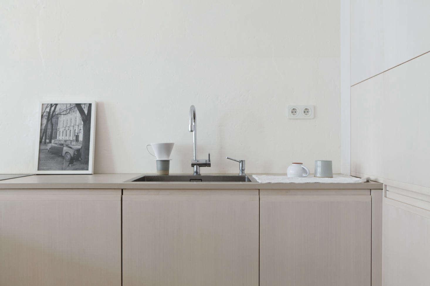 Studio Oink Minimalist Apartment Kitchen