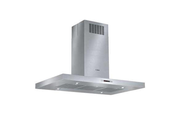 Bosch Island Range Hood ~ Wall mounted plate rack with shelf