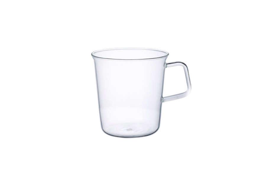 Designed by Japanese architectsStudio Shirotani, this Kinto Glass Mug has a  src=