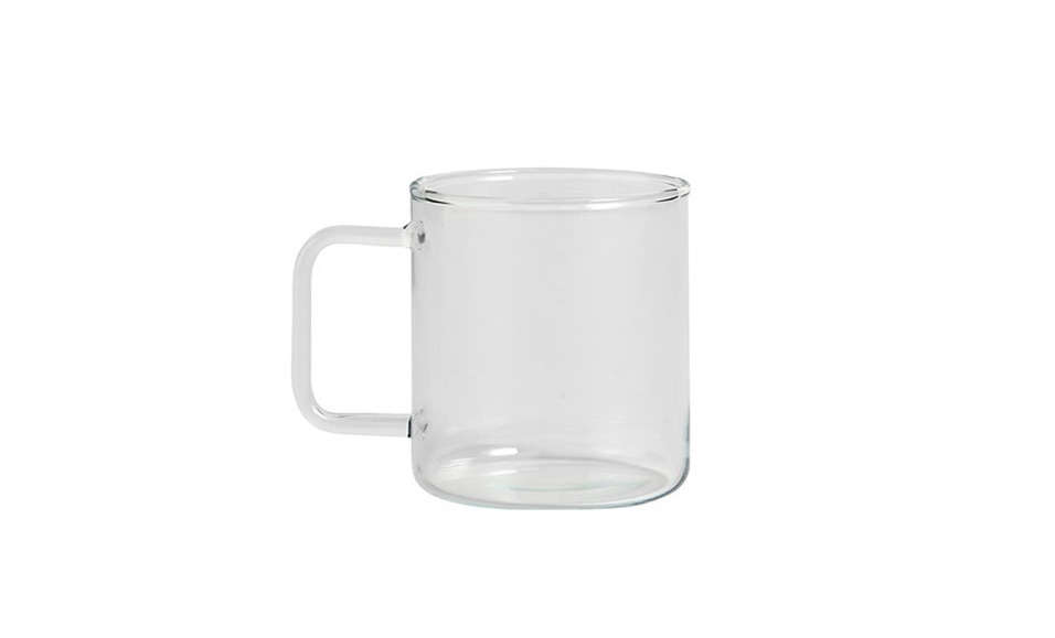 ThisGlass Coffee Mug is from Danish design house Hay; $ from Finnish Design Shop. (A taller, narrowerGlass Tea Cup is also available.)