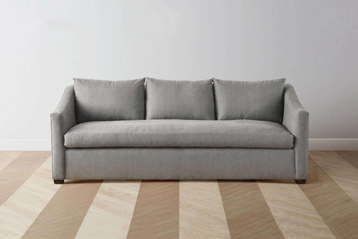 From New Sofa Company Maiden Home, The Sullivan Sofa Has A Wood Frame, Goose