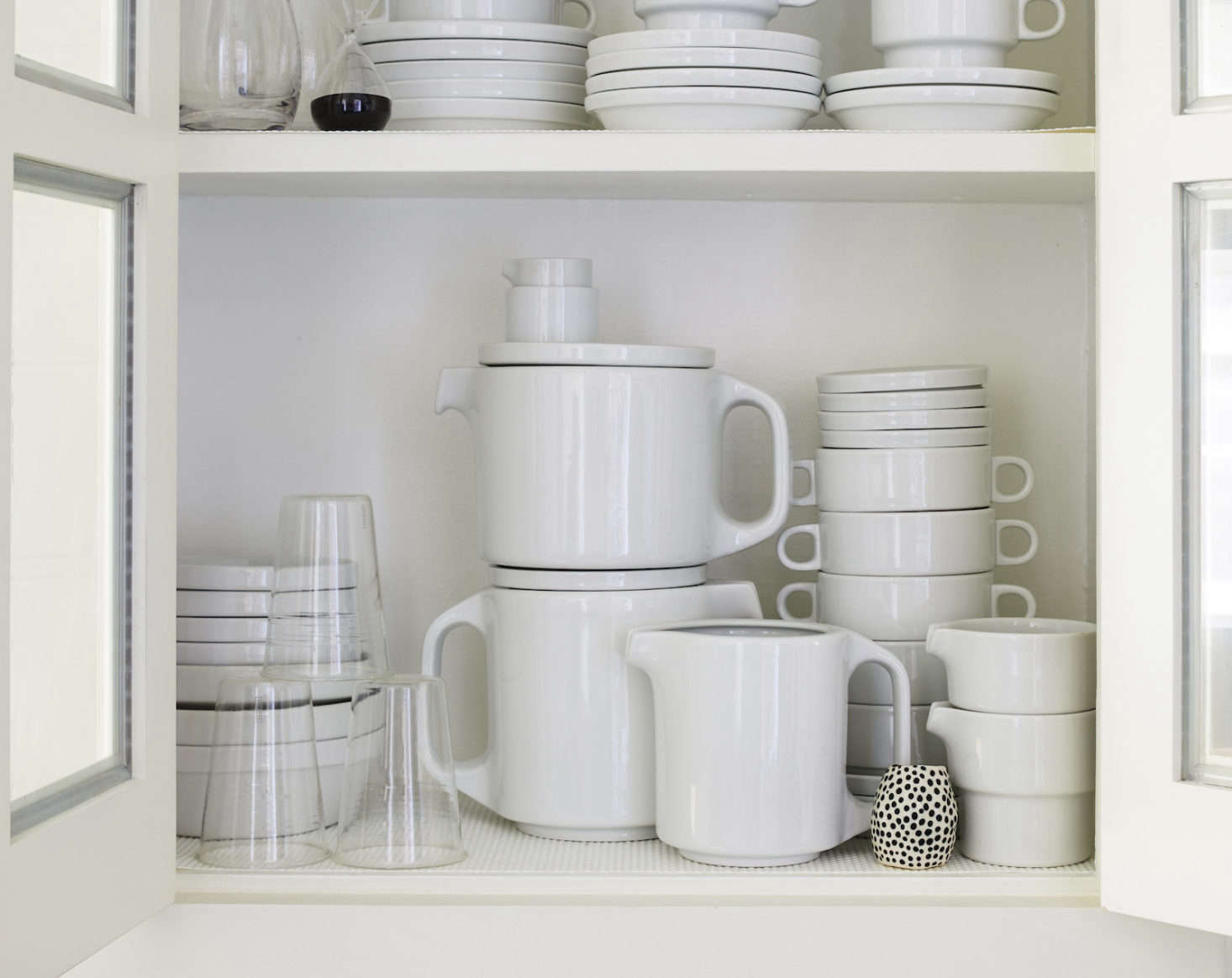 Axe is an avid collector of stackable TC100 tableware byHansRoericht and has amassed quite the collection over the years. The design is part of the Museum of Modern Art's permanent collection.
