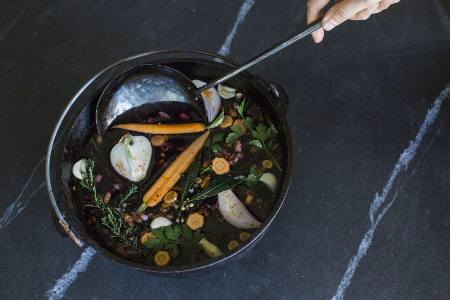 The heirloom-quality spoon can also be used as a ladle.