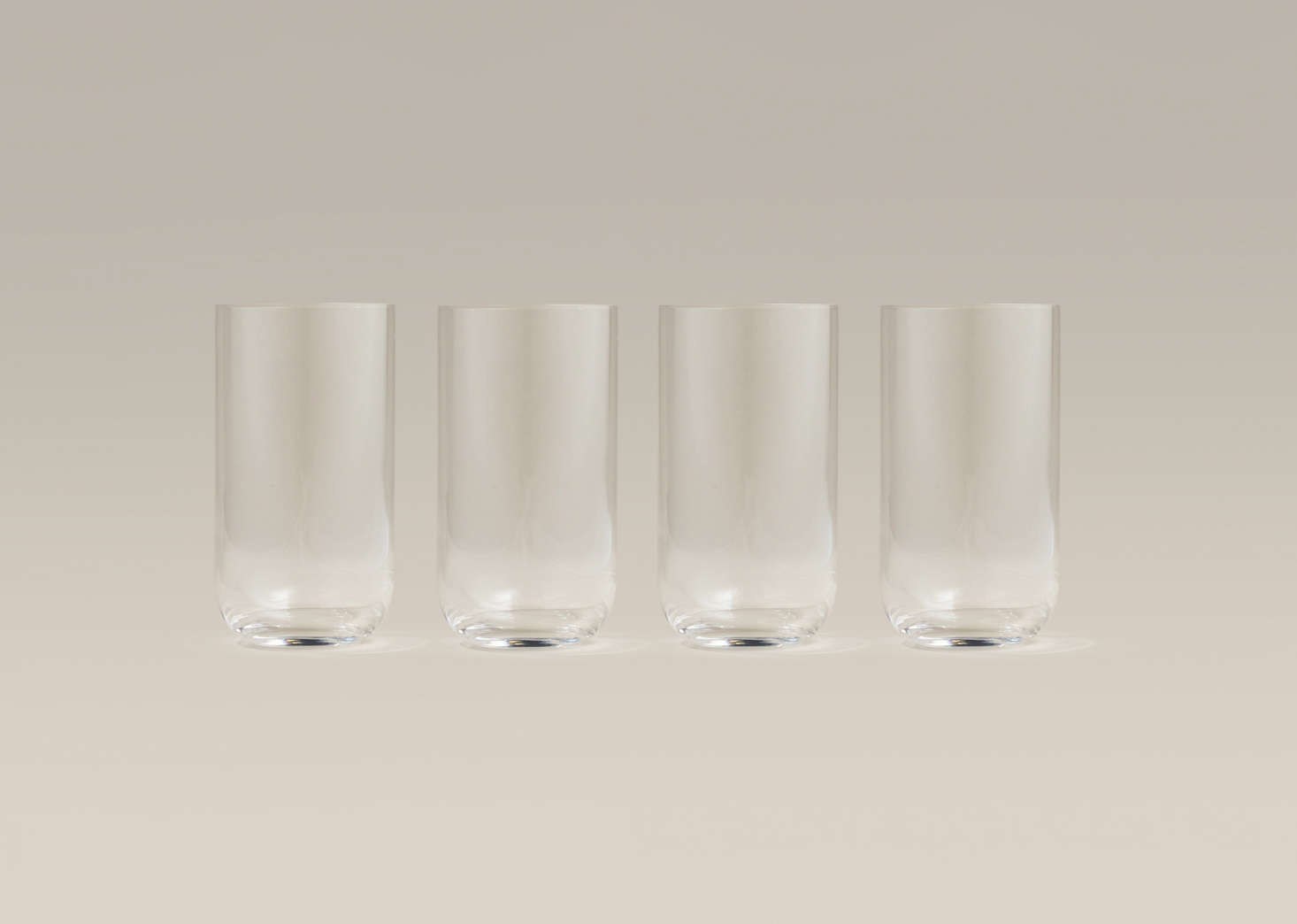 Tall Glasses are made in Italy of lead-free glass. They&#8