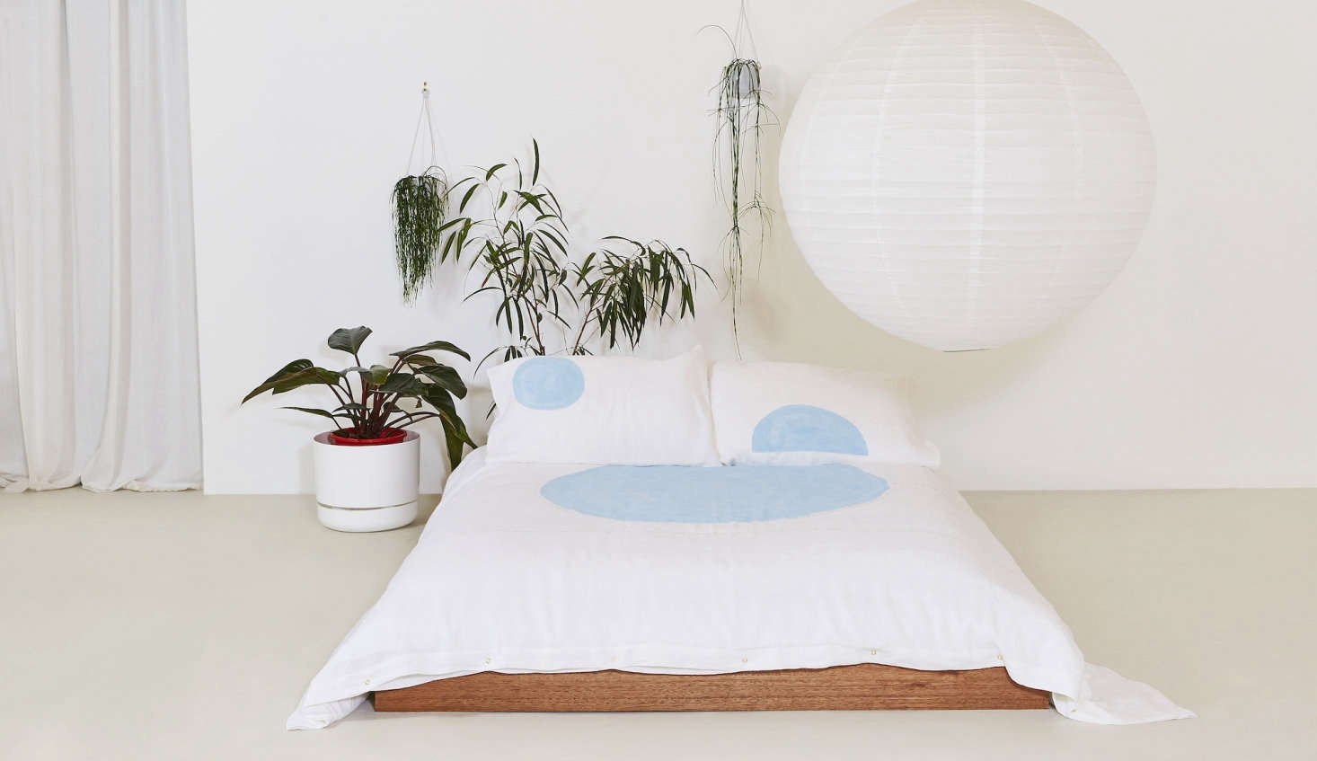 The Big Dreams Duvet Cover in French blue.