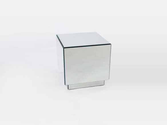West Elm Geo Mirror Storage Side Table