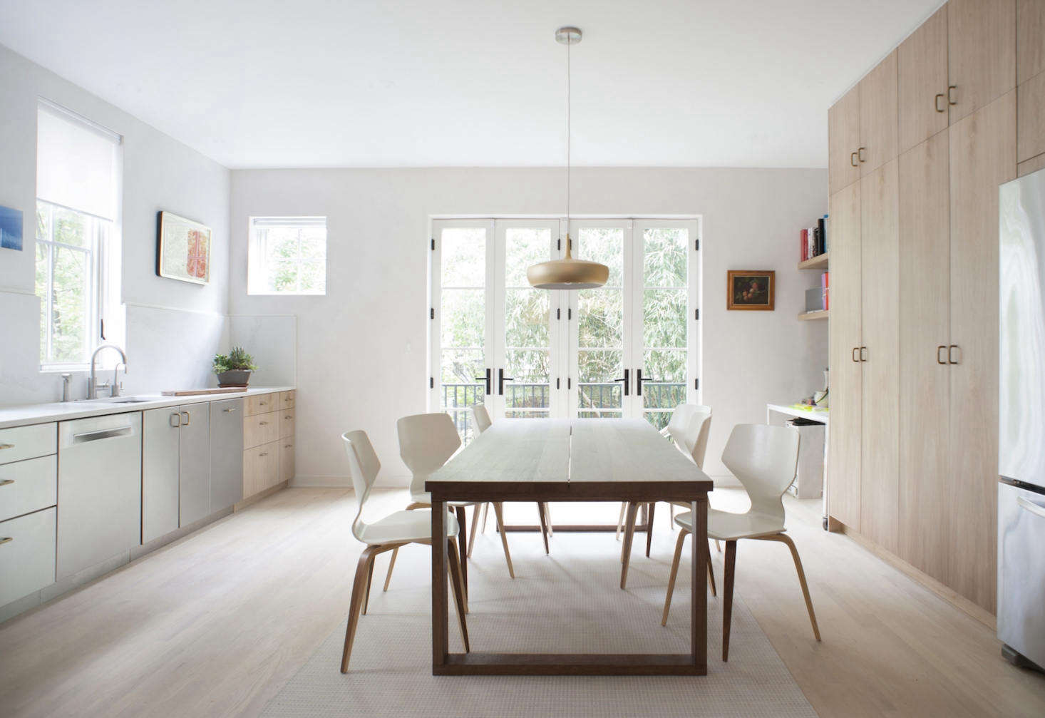 A Subtly Detailed Kitchen in Stainless and Wood for a DC Artist and ...
