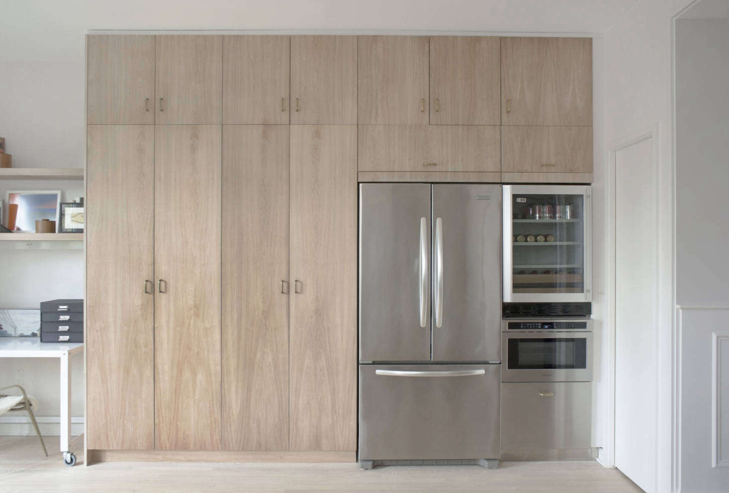 A Subtly Detailed Kitchen in Stainless and Wood for a DC ...