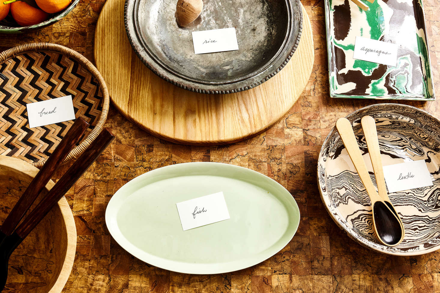 Label your serving platters ahead of time, and more stress-free holiday hacks inExpert Advice:  Stress-Free Entertaining Tips for the Hostess Procrastinaire. Photograph by Heidi&#8