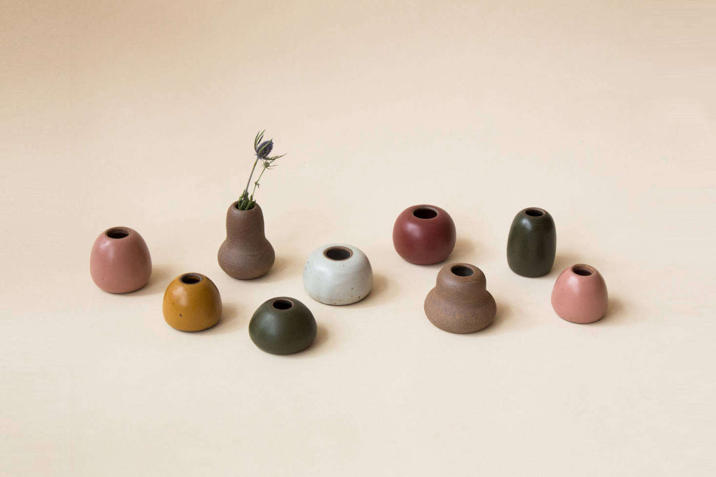 We also like the small Shapes Vases ($28 each); perfect for tiny buds and single stems. They're currently sold out, but will be back soon.