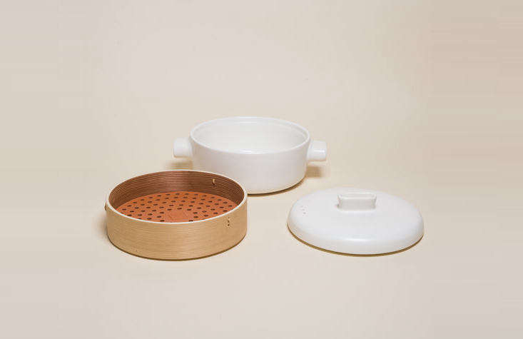 The Steamer Set ($142) by Jia is made of cedar and terracotta, and can double as a rice cooker.