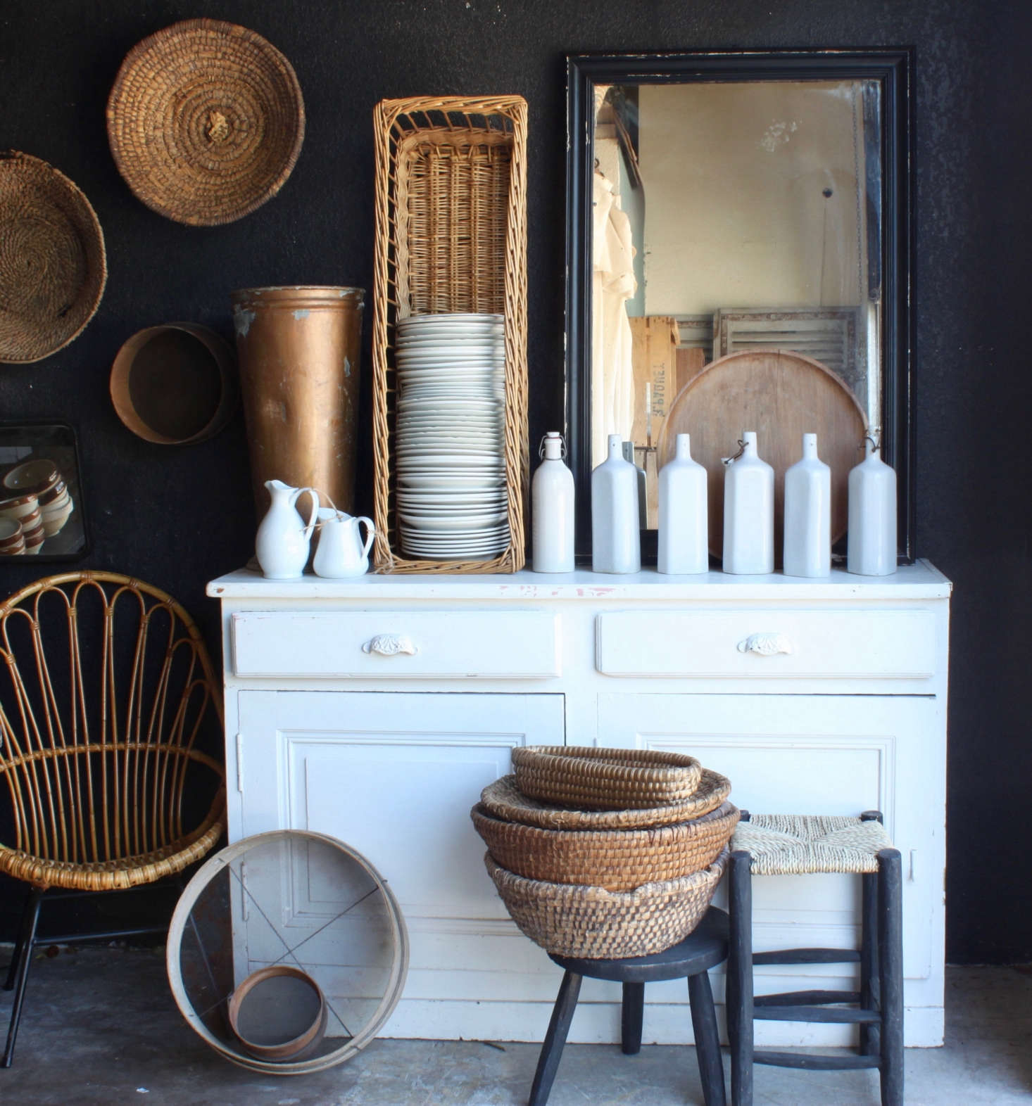 Finds from France inside the Elsie Green emporium in California.