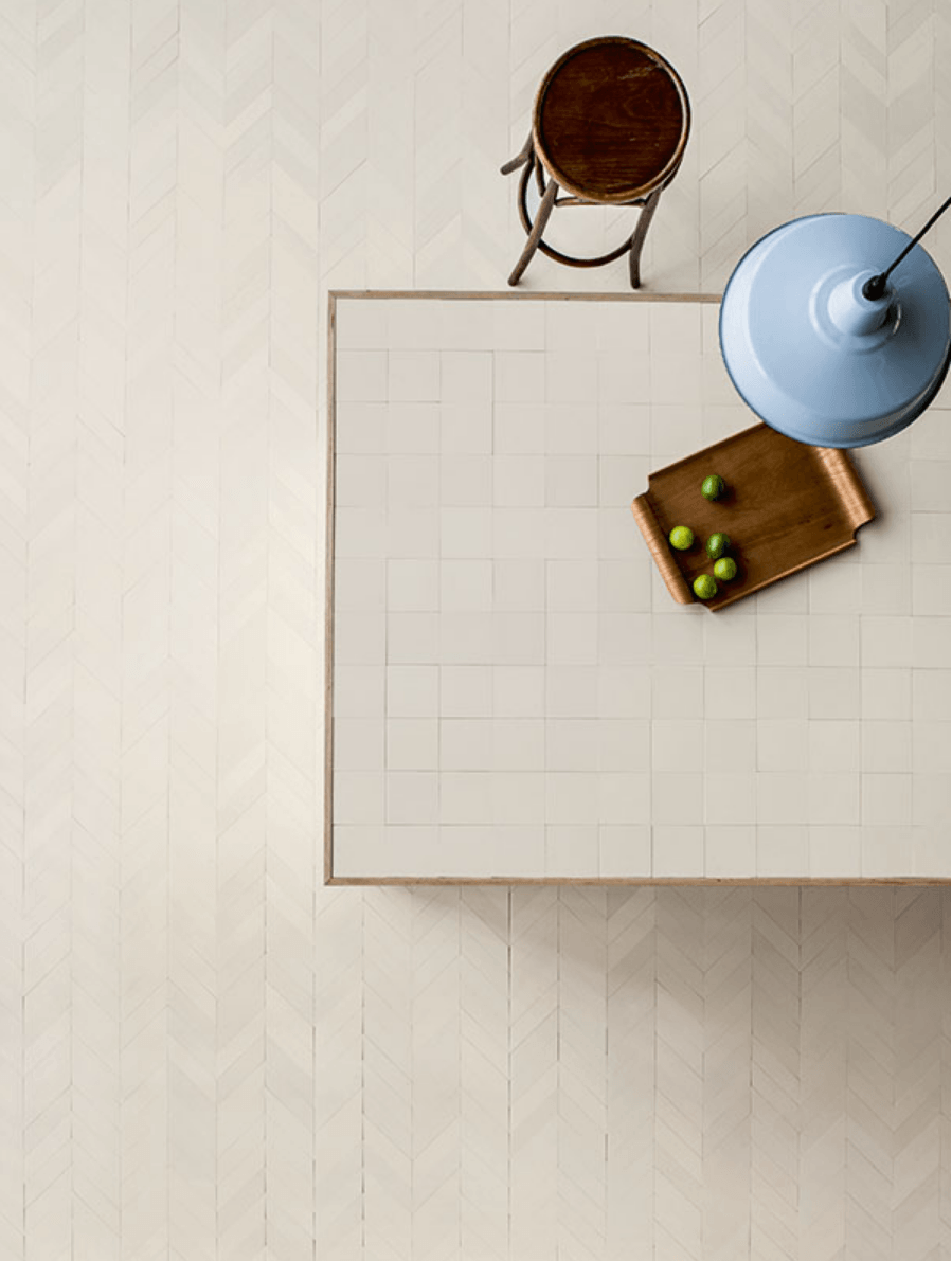 The Mews Porcelain Tile by Barber & Osgerby for Mutina has a sophisticated air; read more about it at Trend Alert: 5 Minimalist Graphic Ceramic Tiles.