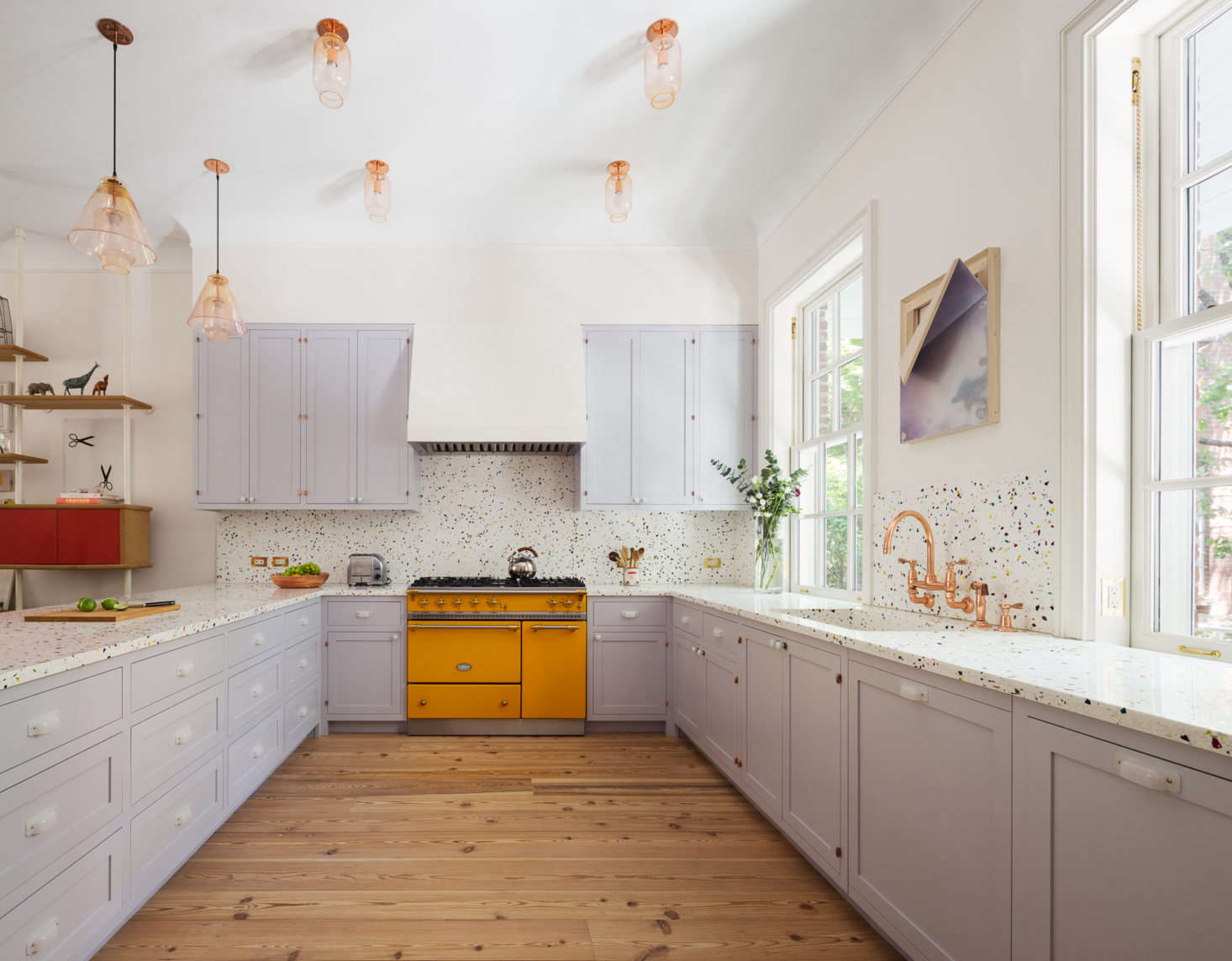 An 1828 federal style townhouse remodeled with color and for Federal style kitchen